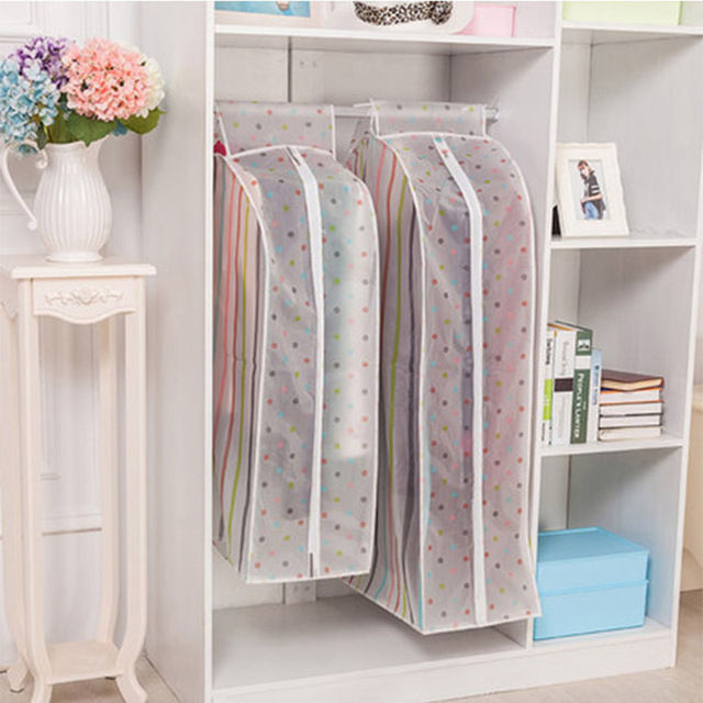 large Vacuum Bags for Storing Clothes Garment Suit Coat Dust Cover Protector Wardrobe Storage Bag Case for Clothes Organizador