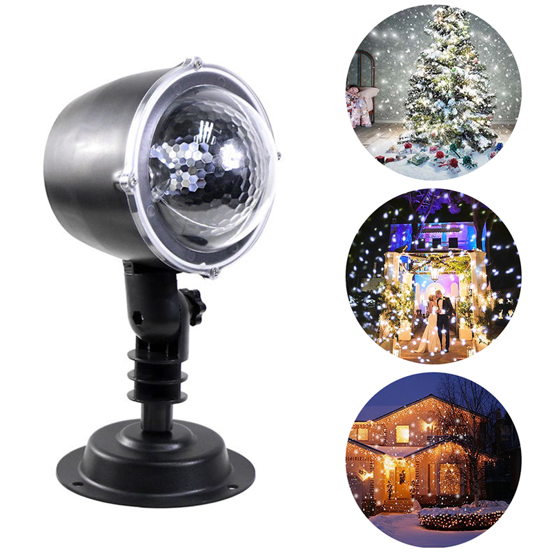Snowfall Projector IP64 Moving Snow Stage Effect Light Home Laser Snowflake Projector Lamp Christmas New Year Party Wedding