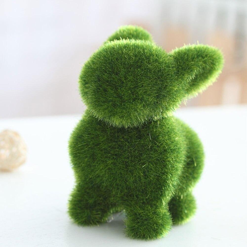 Творческий ремесленных животных форма эмуляции животных для офиса игрушки Искусственный животных искусственный сток животных садовый декор - Цвет: Rabbit