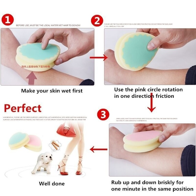 1 Pcs New Magic Painless Hair Removal Depilation Sponge Pad Save Way To Remove Hair Leg Arm Hair Remover Effective