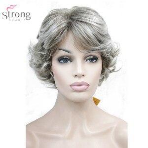 Image 5 - StrongBeauty 女性合成かつらキャップレスショートカー髪ブロンド/黒自然なかつら