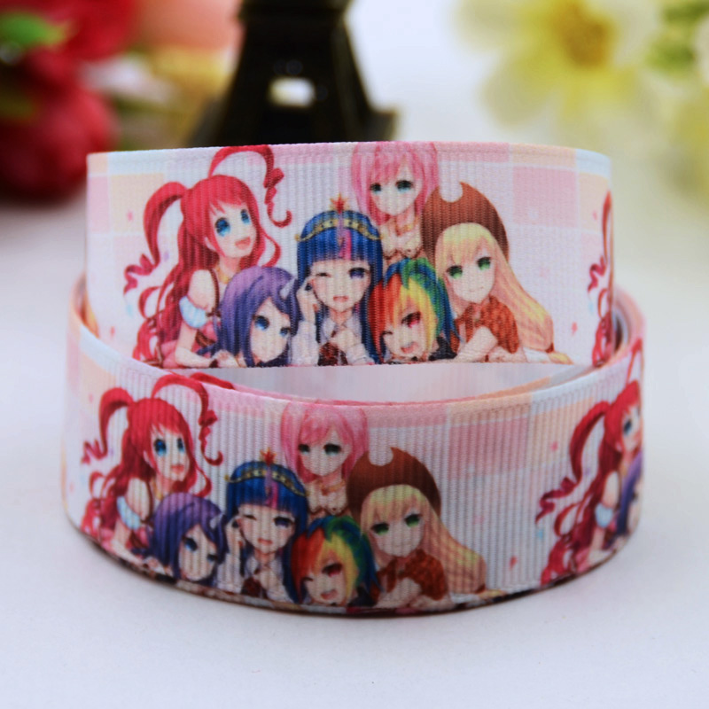 And Great Variety Of Designs And Colors 22mm Good 7/8 Full Range Of Specifications And Sizes Cartoon Character Printed Grosgrain Ribbon Party Decoration Satin Ribbons Oem 10 Yards X-00619 Famous For High Quality Raw Materials