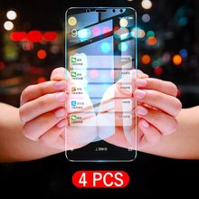 4pcs/Lot 9H Tempered Glass For Huawei Nova 5 Pro 4 4E 3 3E 3i 2 Y6 Y7 2017 Honor 6X 7 6 V9 Explosion Proof Screen Protector Film(China)