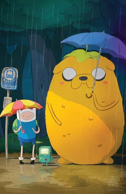 Novelty Print Your Own Picture On Room Wall Finn & Jake My Neighbor ...