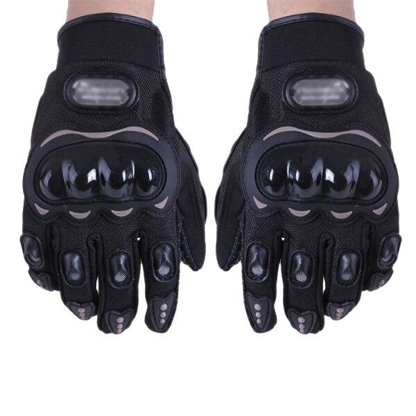 Prix pour Bonne affaire Paire Noir Gants Complet Doigt Protection XXL Moto Velo Sport Homme Femme