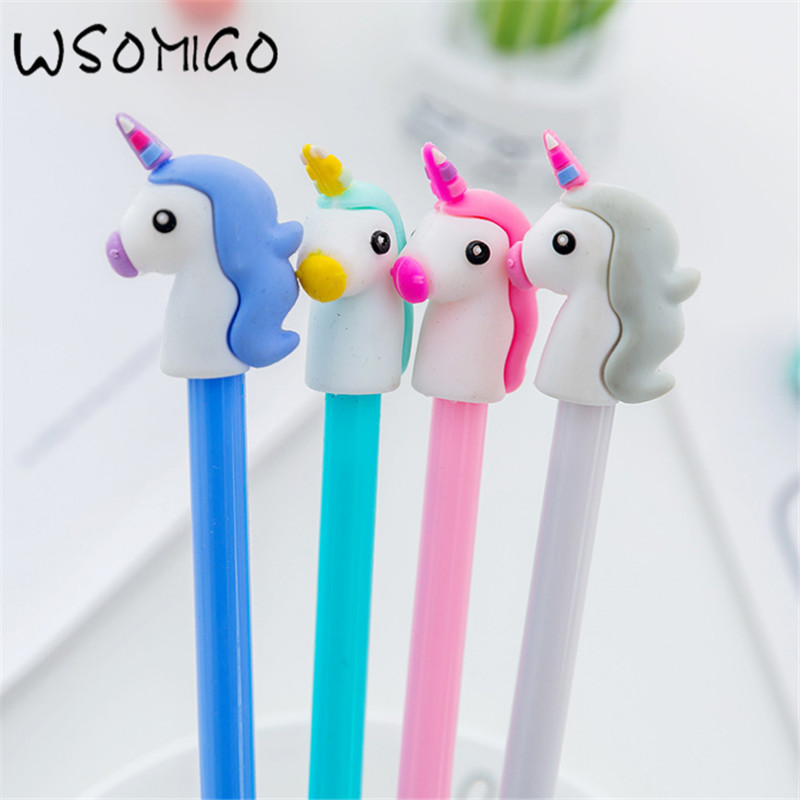 Wedding Gifts For Children: 4pc Unicorn Black Pen Wedding Gifts For Guests DIY