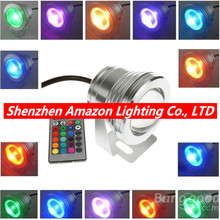 Remote Control 10w 12v Water Resistant RGB LED Underwater Light Lamp f