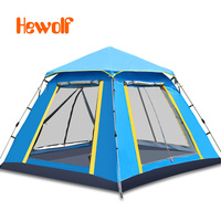 3 -4 people outdoor tents sunscreen beach home camping equipment automatic stainless steel camping tents