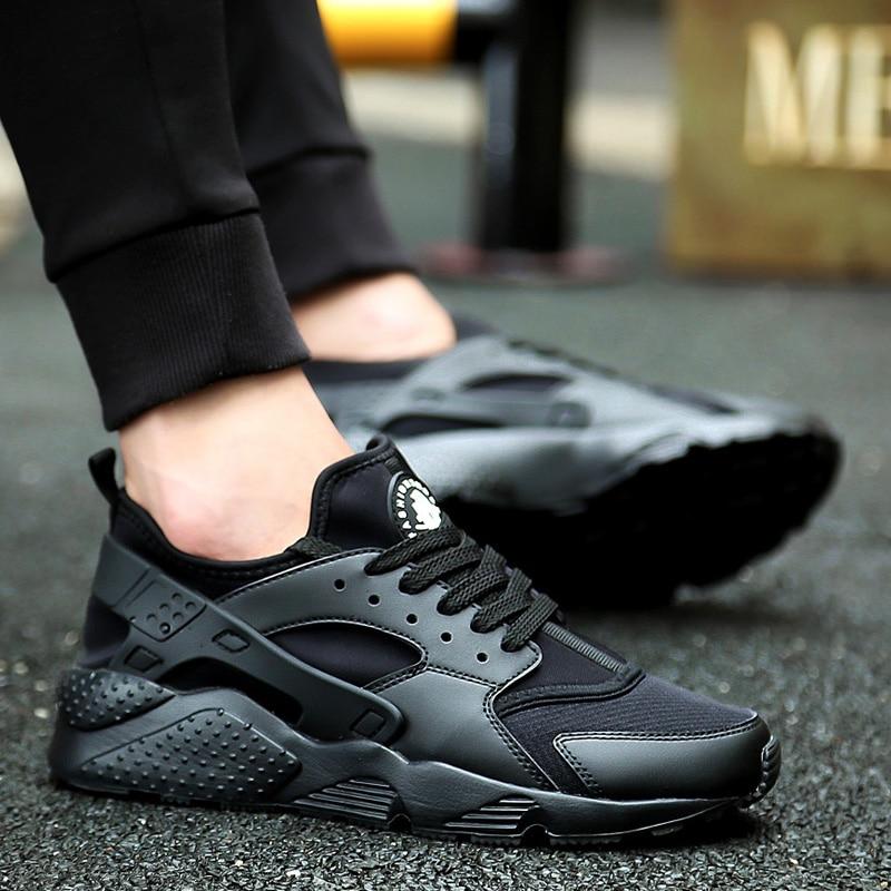 Zapatillas para correr para hombre 2018 zapatillas deportivas negras blancas para hombre zapatillas De deporte para hombre Corrientes Verano rojo chussure Homme De marca