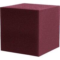 Fire proof Acoustic Bass trap Foam for Corner Music Studio Sponge Burgundy Cube 30*30CM