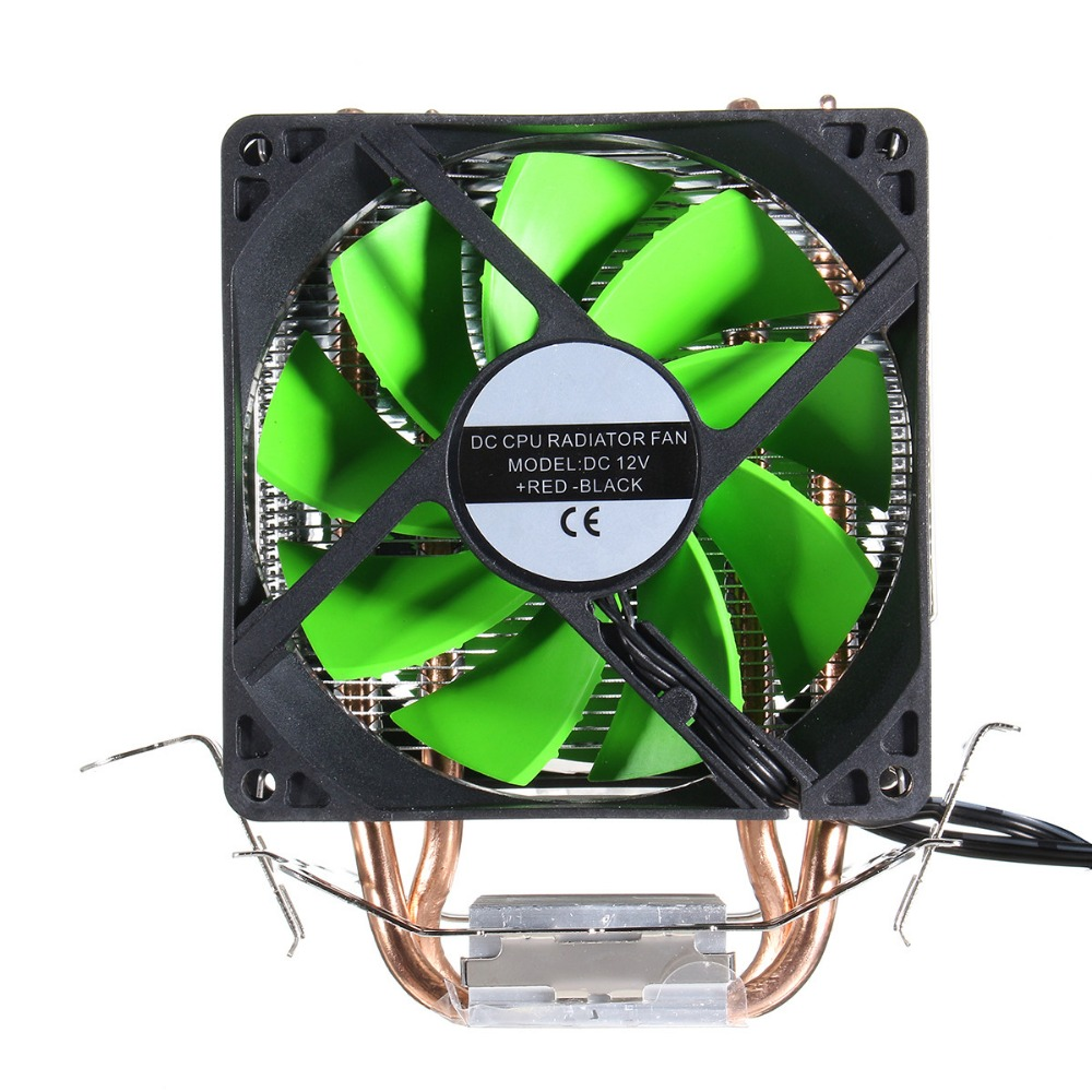 New Arrival Dual Fan Hydraulic CPU Cooling Heatpipe  Heatsink Radiator For Intel LGA775/1156/1155 AMD AM2/AM2+/AM3 for Pentium universal cpu cooling fan radiator dual fan cpu quiet cooler heatsink dual 80mm silent fan 2 heatpipe for intel lga amd
