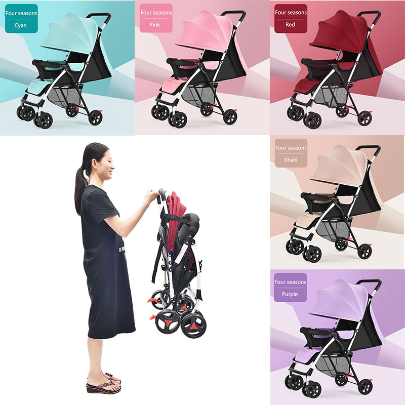 Дешевые легкие детские коляски легко складывать компактные коляски