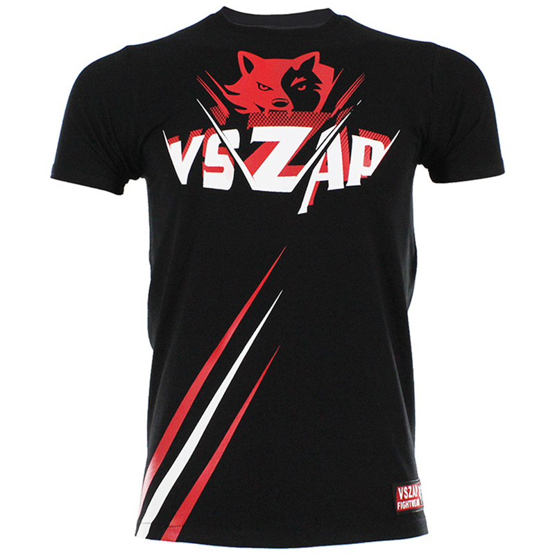 Black VSZAP RAY T-SHIRT MMA Tee With Unique Design Boxing Team Jerseys Unisex