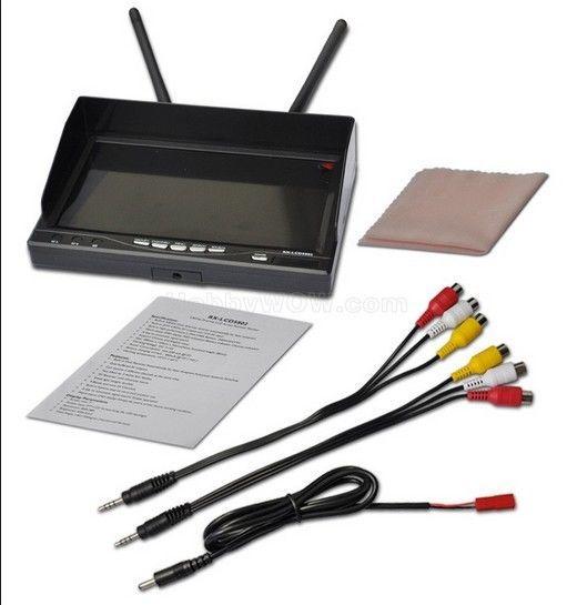 RX-LCD5802 5.8 GHz 7 ''LCD 800*480 32 canaux moniteur récepteur de diversité OSD FPV