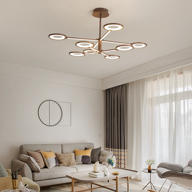 New Design LED Chandeliers Brown Modern Chandelier industrial lamp For Diningroom Livingroom Lighting lampadario led
