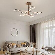 New Design LED Chandeliers Brown Modern Chandelier industrial lamp For Diningroom Livingroom Lighting lampadario led
