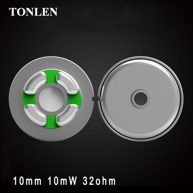 TONLEN 2pcs/10pcs/100pcs 10mm Sports Bluetooth Ear Headphones Speaker Unit 32ohm Full Frequency Bluetooth Headphones Accessories