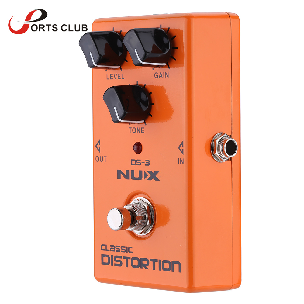 nux classic distortion pedal high quality electric guitar effect pedal true bypass durable. Black Bedroom Furniture Sets. Home Design Ideas