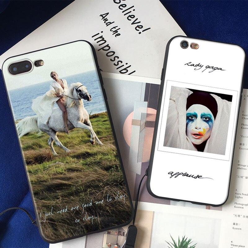 Lady JOANNE GAGA Fashion Cover Shell For Apple iPhone 5 5S SE 6 6S 6Plus 6sPlus 7 7Plus 8 8Plus X Soft Silicone Tpu Phone Case