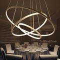 Modern Pendant Lights For Living Room Dining Room 3/2 Circle Rings Acrylic Aluminum Body LED Lighting Ceiling Lamp Fixtures