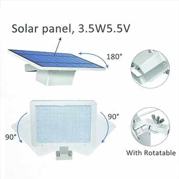 SZYOUMY Solar Lamp 48 leds Solar Light For Outdoor Garden Wall Yard LED Security 48LED Lighting With Adustable Lighting Angle