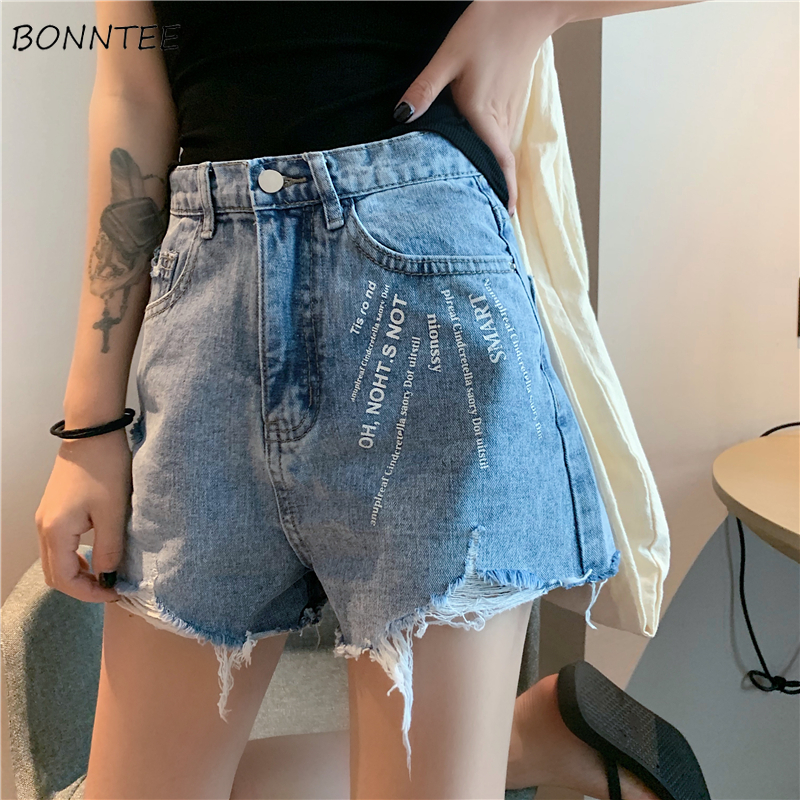 Shorts Women Simple Letter All-match Elegant High Waist Female Korean Style Loose Womens Summer Loose Clothing 2019 New Students