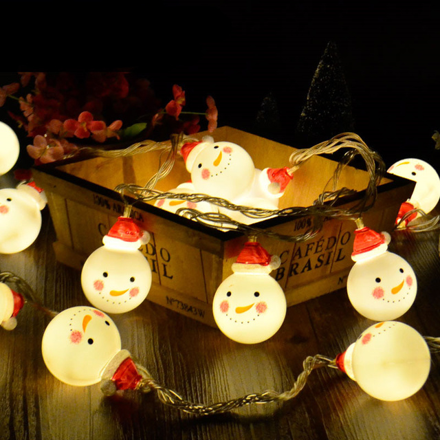 3m 5m lovely snowman doll shape led string light battery operated 3m 5m lovely snowman doll shape led string light battery operated fairy lights christmas decorations mozeypictures Gallery