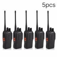 5 Pcs/Set Baofeng BF 888s Portable Walkie Talkie Transceiver Two way Radio Communicator 400 470MHz Interphone Intercom EU Plug