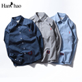 Blank Dress Shirts Men Long Sleeve 2017 Autumn Turn-down Collar Casual Cotton Men's Shirts Male Clothes 3 Colors