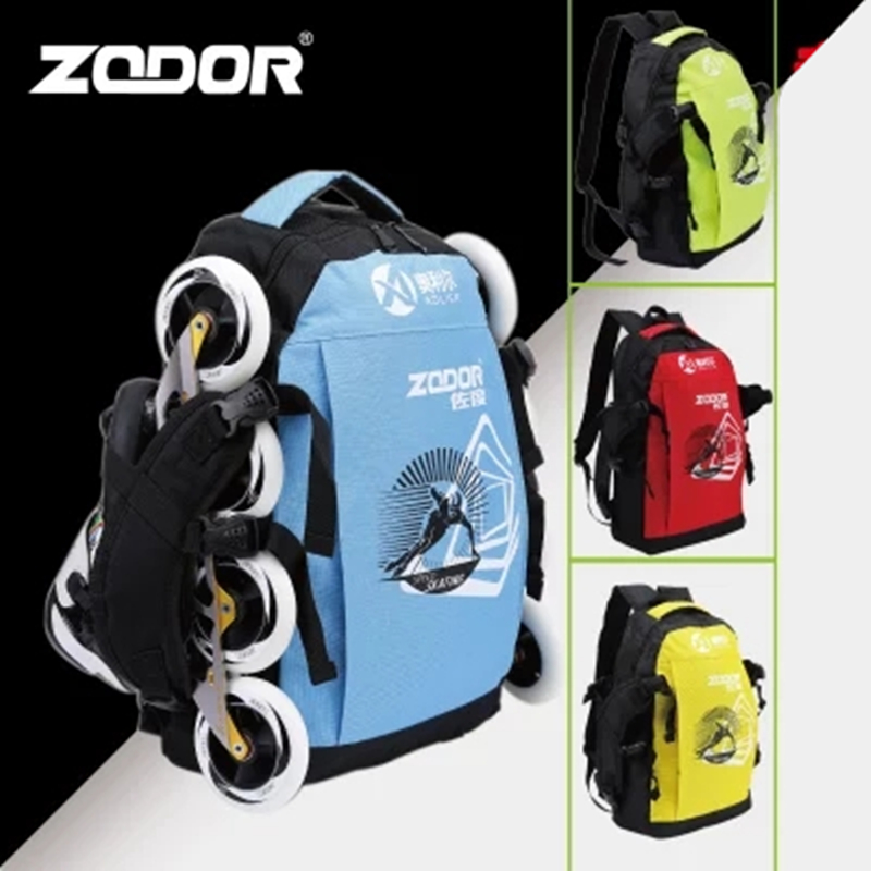 Inline Speed Skates Shoes Backpack Green Red Yellow Blue Carbon Fiber Race Skates Container Support EUR 46 Maximum Skating Bag