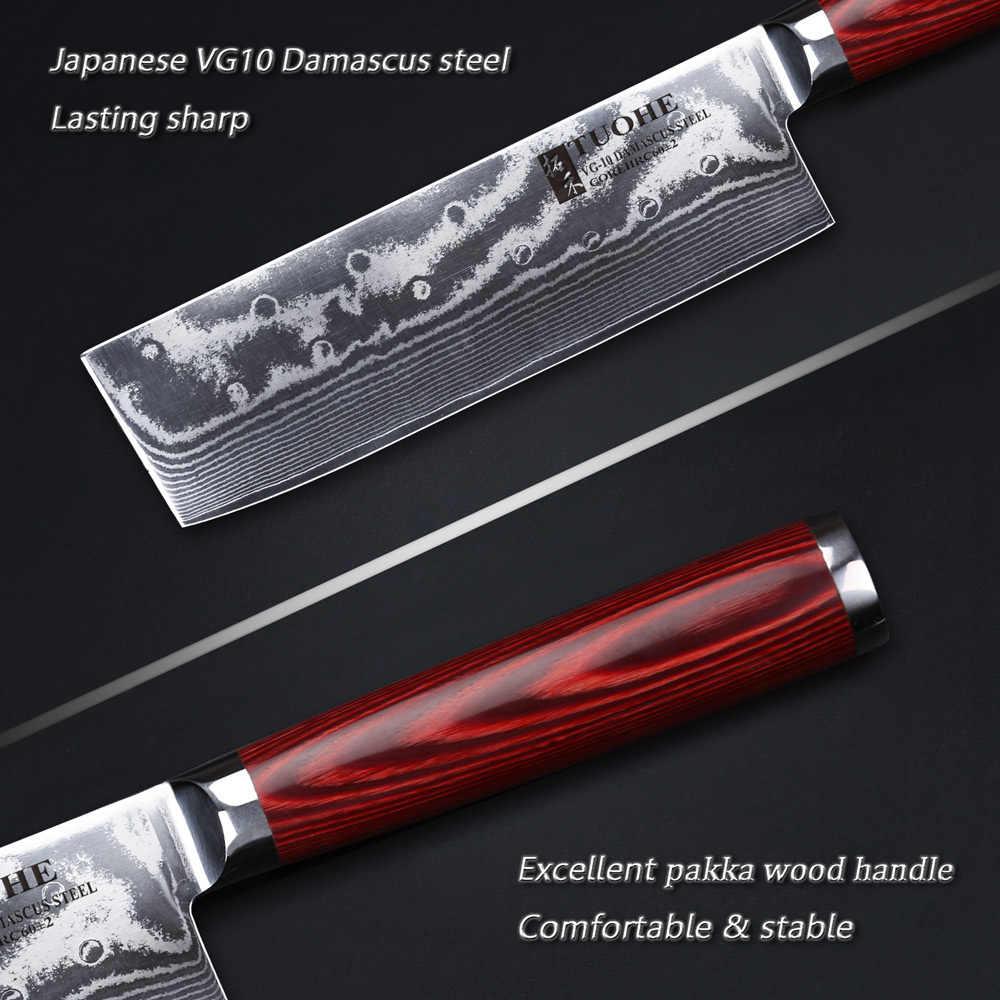 "TUOHE 6.5 ""שף של סכין המטבח 67 שכבות דמשק פלדת מטבח סכין קופיץ שף סכין VG10 פלדת core בשר /ירקות"