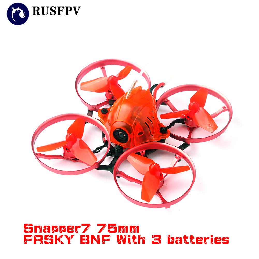 Happymodel Snapper7 75mm Crazybee F3 OSD 5A BL_S ESC 1S Brushless Whoop FPV Racing Drone Frky BNF With 3 batteries