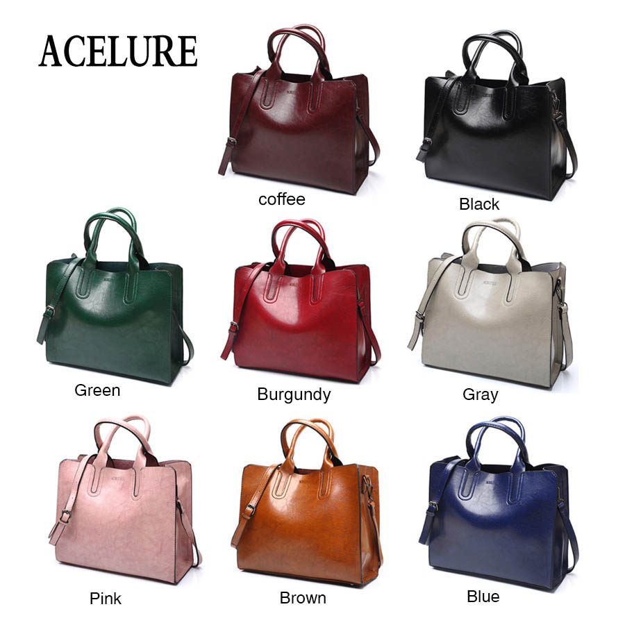 ACELURE Leather Handbags Big Women Bag High Quality Casual Female Bags Trunk Tote Spanish Brand Shoulder Bag Ladies Large Bolsos 4