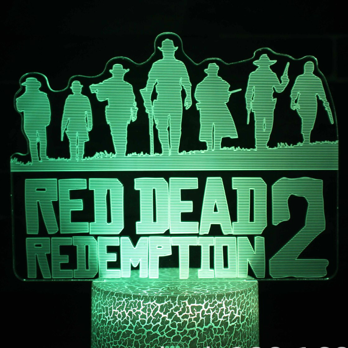 Game Red Dead Redemption 2 Novelty Lighting Gift Home Decoration Accessories Dutch Van Der Linde Led Night Light Bedroom Decor