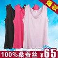 100% de punto de seda de seda sin mangas top mujeres tank tops