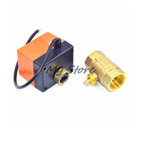 1 2 DN15 AC220V Brass Motorized Ball Valve Switch Type Electric 2way 3wire Water Control Valve