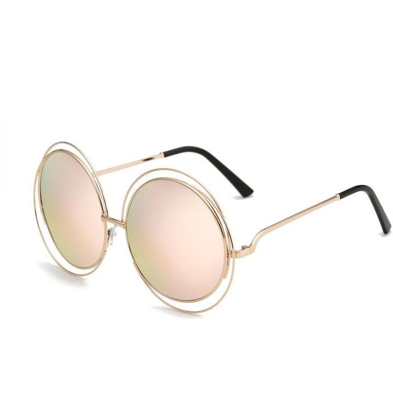 vintage redondo grande lente de espejo diseador de la marca de gran tamao gafas de sol de seora cool retro mujeres uv gafa