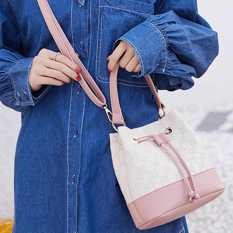 Женские ручные сумки цвета контрастная Наплечная переносная сумка женская дикая сумка через плечо брендовая дизайнерская сумка 2019 карман