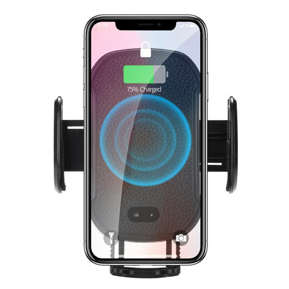 QI Car Wireless Charger for Apple iPhone XS Max XR X 8 Plus Samsung Galaxy Note 9 S9 S8 Fast Car Charger IR Sensor