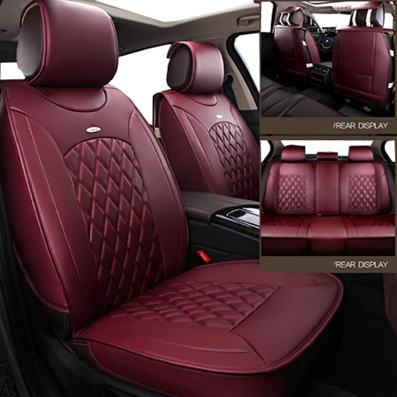 front back Universal leather car seat covers for Kia soul cerato sportage optima RIO K3S