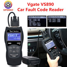Vagate VS890 MaxiScan OBD2 Scanner VS 890 Vgate Full CAN-BUS Auto Car Diagnostic Tool Multi-Cars Multi-Language OBD 2 Scan Vgate(China)