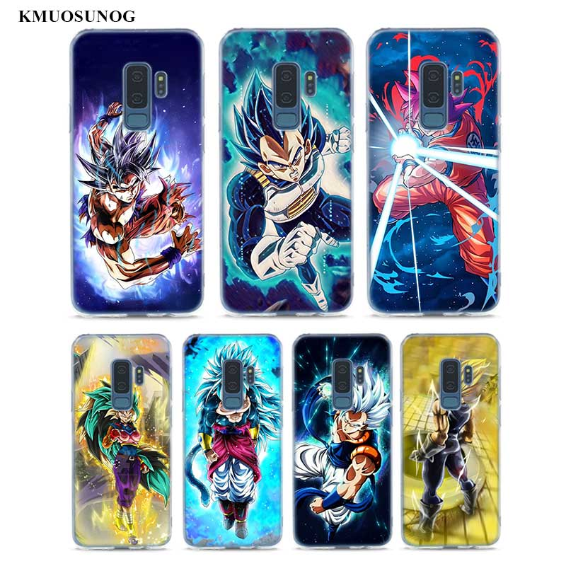 Transparent Soft Silicone Phone Cases Dragon Ball z goku DragonBall For Samsung Galaxy S9 S8 Plus S7 S6 S5 Edge Note 9 8 in Fitted Cases from Cellphones Telecommunications