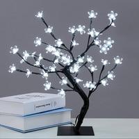 LED Crystal Cherry Blossom Tree Light Night Lights Table Lamp Christmas Fairy Wedding Decoration Lighting Luminarias de mesa