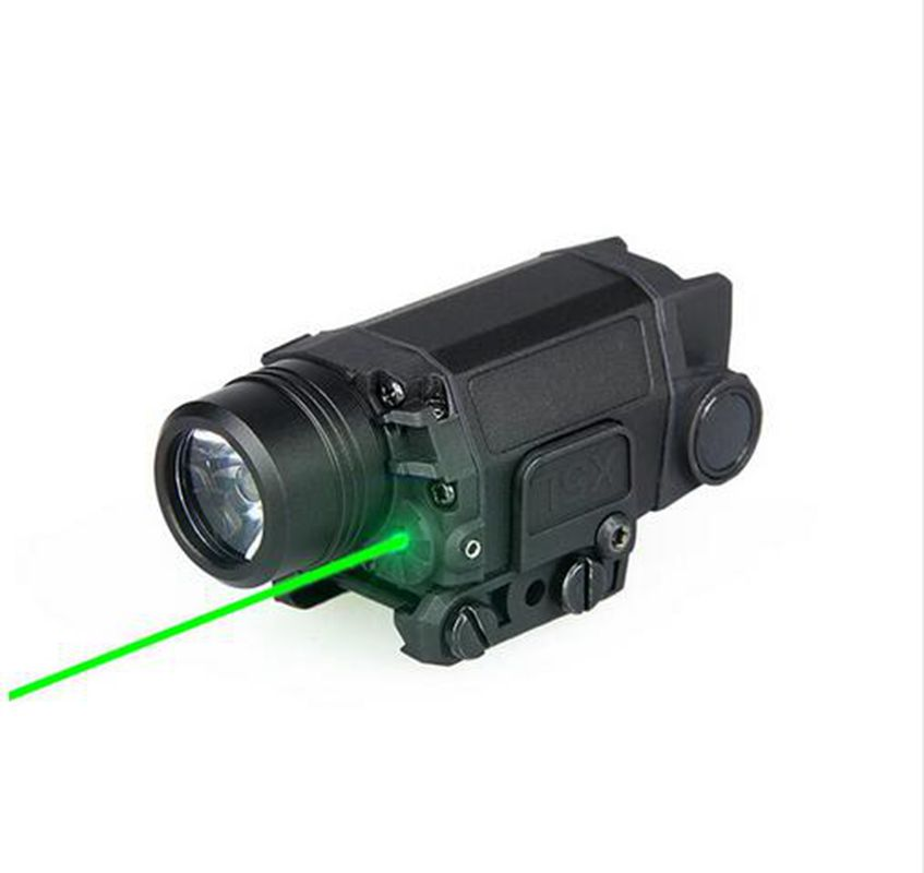 Tactical LED Hunting Scope Flashlight Torch Light With X5L Green Laser For Helmet Head 3800 lumens cree xm l t6 5 modes led tactical flashlight torch waterproof lamp torch hunting flash light lantern for camping z93
