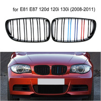 Front Kidney Grille Grill For BMW E81 E87 120d 120i 130i 1 Series 2008 2011 Front Grill ABS Glossy Grille Facelift Cabriolet