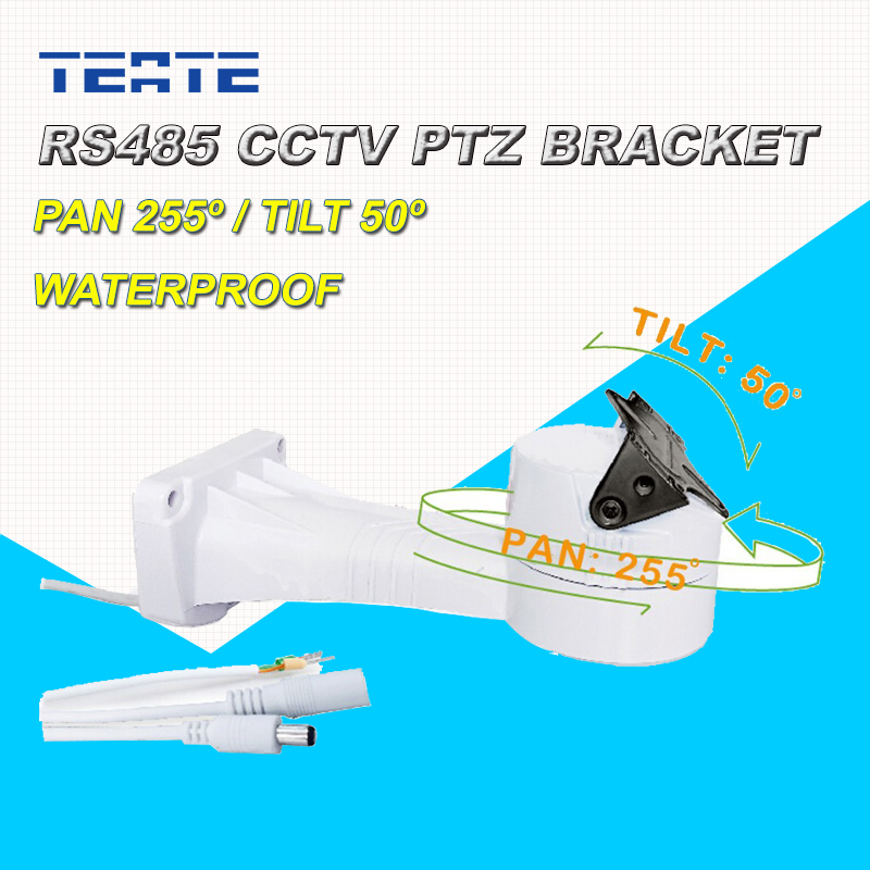 CCTV Bracket PTZ Electrical Rotating RS485 Connection Waterproof Outdoor Pan Tilt Rotation Motor Built-in r0016 2pcs lot long u shaped bracket standard servo bracket ptz pan tilt bracket 2 color smart car robot accessories