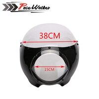 Black 5 3/4 Cafe Racer Headlight Fairing For Sportster 883 1200 Dyna