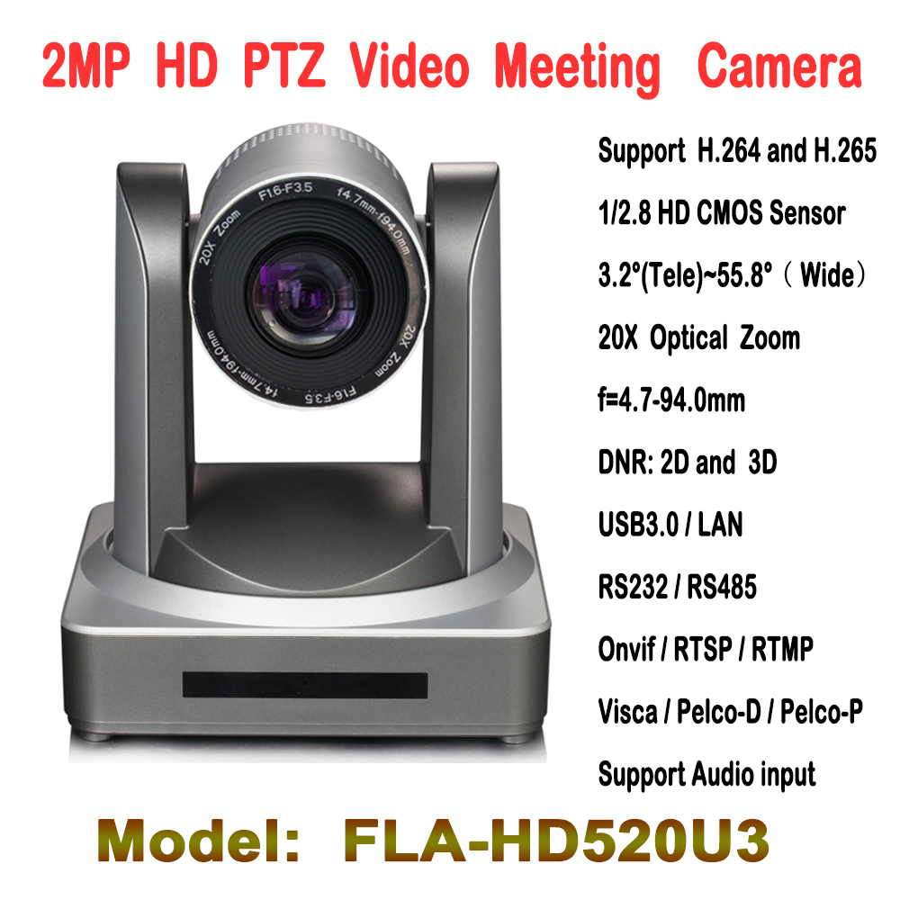 Best Quality 2.0Megapixel Full HD 20x Zoom USB3.0 High Speed Onvif IP PTZ Conference Camera Video Surveillance Security Meeting tr cvi313 3 best selling new high quality 300 500 meter transmission 3 6mm megapixel lens 2 0mp full hd 1080p camera cvi