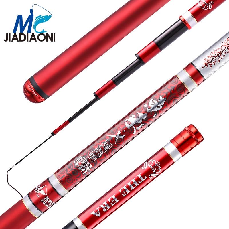 JIADIAONI 19/28 Tune Carbon Fiber Superhard 3.6m/3.9m/4.5m/4.8m/5.4m/5.7m/6.3m/7.2m Taiwan Fishing Rod Fishing Tackle