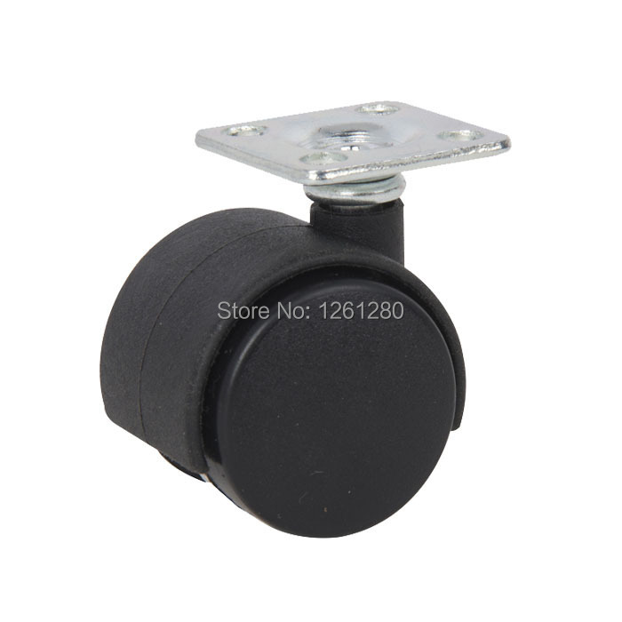 ree shipping nylon furniture caster Universal 1.5-inch casters with brakes flat black wheel hardware bed Trolleys cot wheel part 2pcs 2 inch omni directional flat black swivel nylon furniture caster wheel zinc alloy plate with brake